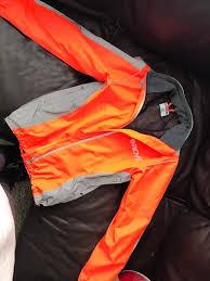 orange waterproof cycling jacket women u0027s ladies provis high visibility waterproof cycling jacket