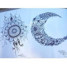 creative daisys drawing flowers henna moon sun tattoos