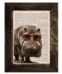 Hip Home Decor Spring Sale Cool Hippo With Sunglasses Home Decor Thee Hippo