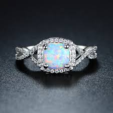 opal rings unique images Buy 18k white gold plated lab created fire opal ring by sgs jpg