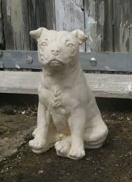 staffy statue staffie reconstituted cast garden ornament