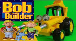 lets play bob builder scoop jcb backhoe loader truck toy