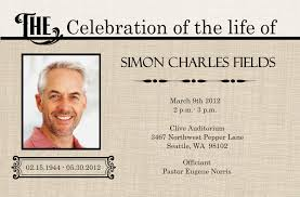 funeral phlets memorial service funeral invitation card ideas wording