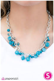 turquoise colored necklace images Paparazzi accessories catch 22 blue necklace jpg
