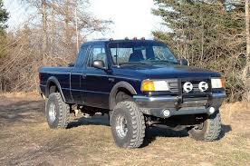 ford ranger with a lift kit 4in suspension lift system for 83 97 ford 4wd ranger 480 20