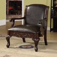 Living Room Seating Furniture Upholstered Accent Chair Leather Arm Living Room Armchair Hastac