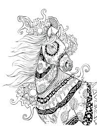 flying horse coloring pages print pictures adults rocking