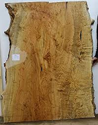 curly birdseye maple wood slab natural live edge table top figured