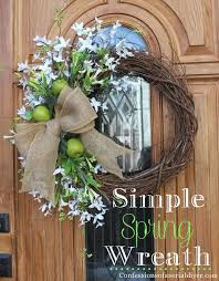 spring door wreaths simple spring wreath confessions of a serial do it yourselfer
