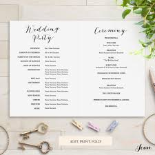 folded wedding programs sweet bomb printable folded wedding order of service template