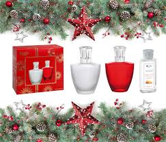 lampe berger chrimtmas gift set satin red and frosted my style