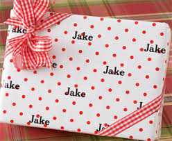 personalized gift wrapping paper polka dots personalized gift wrap gift wrapping paper