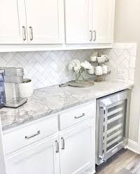 backsplash for kitchen countertops marble countertops herringbone subway backsplash house decor
