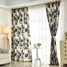 Room Divider Curtains by Baby Blue Leaf Patterned Room Divider Curtains