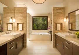 beautiful modern single sink vanity bathroom with bathtubs and