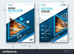 brochure design software blue brochure design corporate business template stock vector