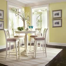 White Kitchen Table Sets American Drew Camden 5 Piece Round Pedestal Gathering Height Table