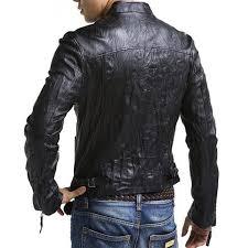 mens bike riding jackets mens slim fit leather biker jacket rider asymmetrical jacket
