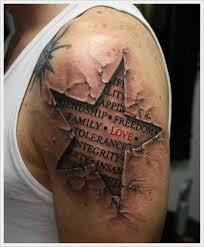 67 fabulous lettering shoulder tattoos