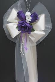 wedding pew bows purple ivorysatin wedding pew bows decorations bouquet pew