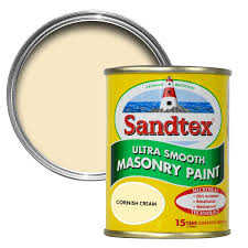sandtex cornish cream smooth matt masonry paint 0 15l tester pot
