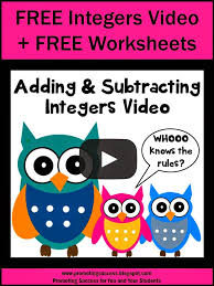 promoting success free lesson plan for adding u0026 subtracting integers