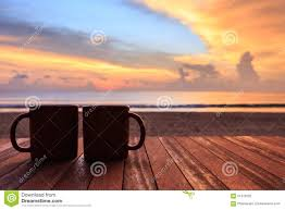 Sunrise Sunset Table Coffee Cup Wood Table Sunset Sunrise Beach Stock Images 85 Photos
