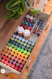 craft supply storage dresser organizational ideas