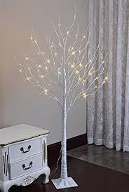 artificial birch trees with lights lightshare 6 feet lighted birch tree 72 led lights decoration for