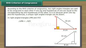 rhs criterion of congruence youtube