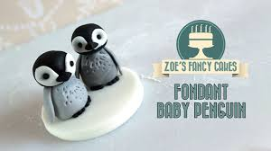 Youtube Christmas Cake Decorations by Fondant Baby Penguin Cake Topper Cake Decorating Tutorial How To