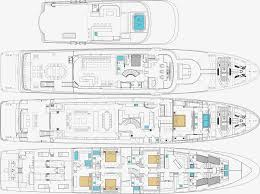 Mega Yacht Floor Plans by Motor Yacht Chasseur