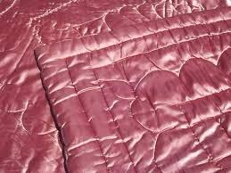 Wool Filled Duvet Hollywood Regency Vintage Quilted Satin Comforter Warm Wool