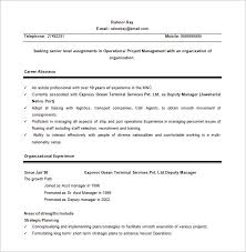 Senior Project Manager Resume Example by Project Manager Resume Template U2013 8 Free Word Excel Pdf Format