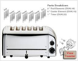 Six Slice Toaster Dualit 6 Slice Bread Toaster Spares Aj Stuart