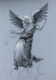 angel pencil drawings drawing sketch library