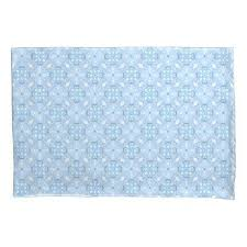 light blue pillow cases winter geometric seamless pattern in light blue pillowcase