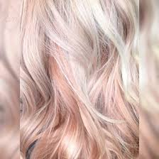 blonde and pastel pink rose gold hair color pinners favorites