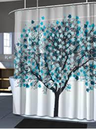 amazon com interdesign daizy shower curtain gray and mint 72 x