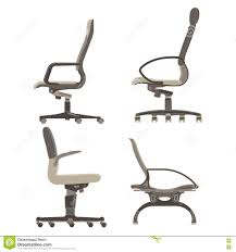 Office Chair Side View Set Collection Pack Office Chairs Side View Stock Vector Image