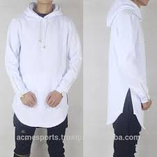 elongated curved bottom hoodies latest style hoodies with side