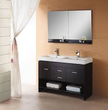 Modern Walnut Bathroom Vanity by Shop Small Double Sink Vanities 47 To 60 Inches With Free Shipping