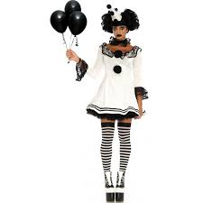 harlequin halloween costumes pierrot clown womens halloween costume clown costume