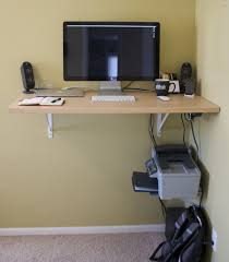 Small Dark Wood Computer Desk For Home Office Nytexas by Wall Mounted Desks For The Room Nytexas Intended For Wall Mounted