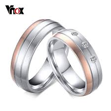 aliexpress buy vnox 2016 new wedding rings for women aliexpress buy vnox trendy wedding ring titanium steel