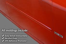 car door molding set paint color matched door guards