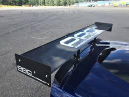 corvette wing prc corvette c6 track wing w chassi mounts