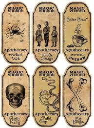 printable halloween specimen jar labels halloween 6 large magic voodoo apothecary bottle labels stickers