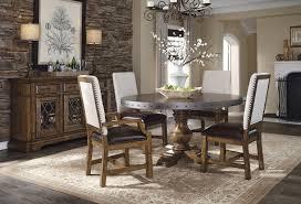 metal top kitchen table reddington round metal top dining room set by pulaski furniture