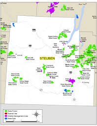 New York State Counties Map by Steuben County Map Nys Dept Of Environmental Conservation